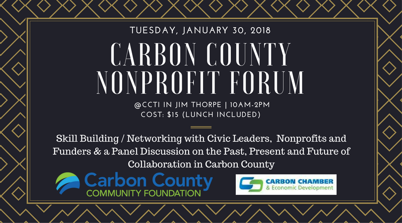 Registration is SOLD OUT for the Carbon County Nonprofit Forum