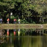 Photo courtesy of Cleo Fogal/PW Photo; bikers on the Lehigh Canal