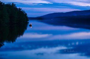 dusky lake scene